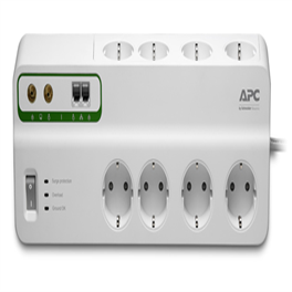 APC Essential SurgeArrest PMF83VT-GR 8Οutlet with Phone & Coax Cable Protection